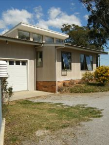Solar-Passive House from the NE.