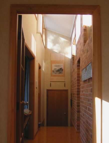 Photo of sunlit house interior