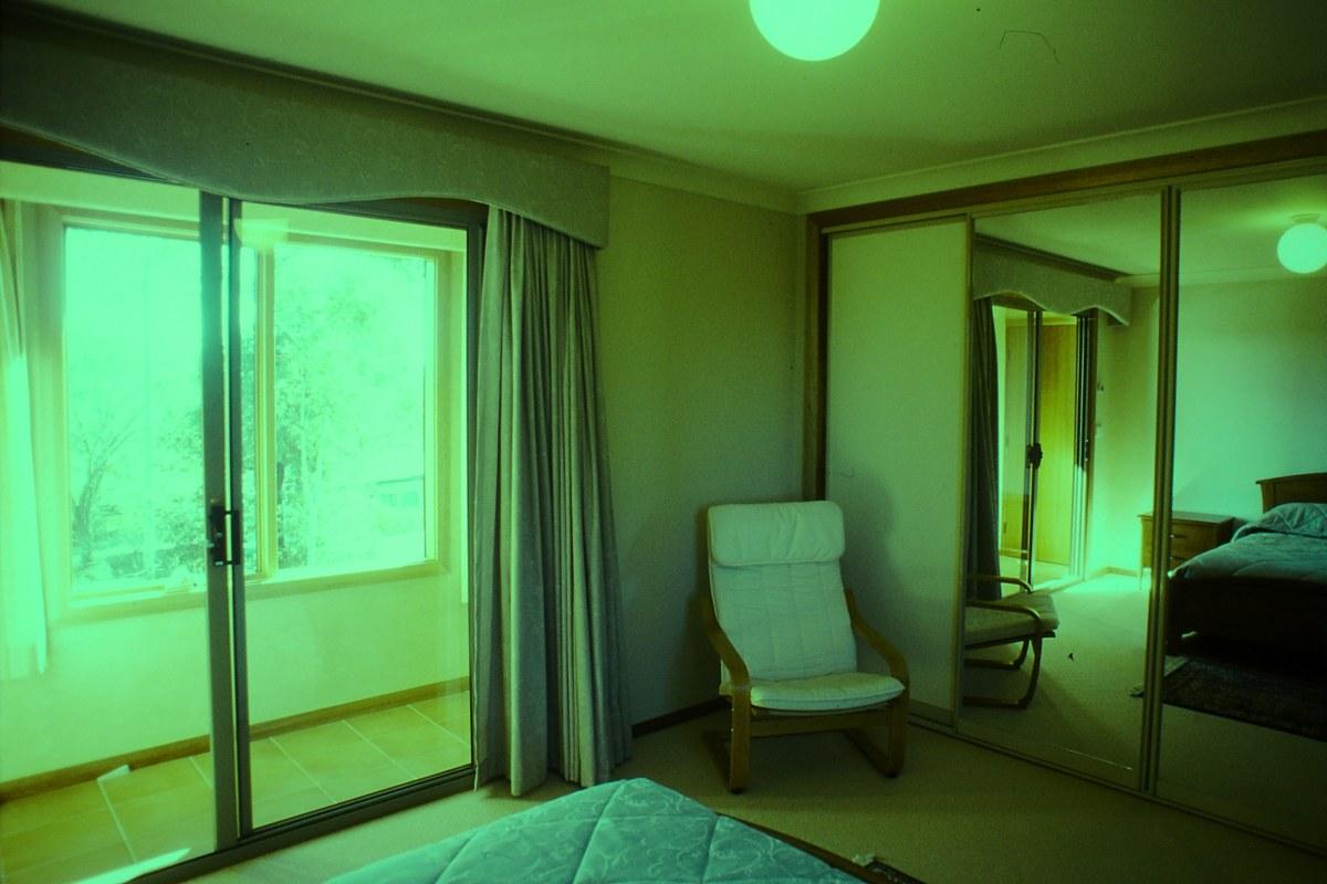 Upstairs bedroom, view NE