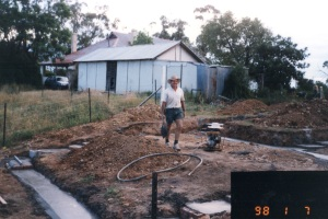 Photo of footings: garage slab