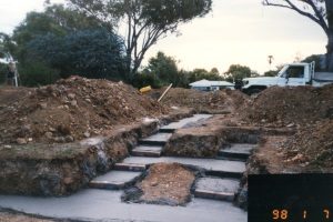 Photo of hallway footings