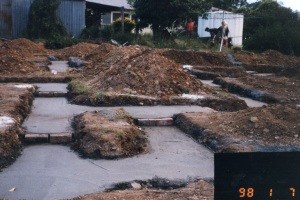 Photo of dining room footings