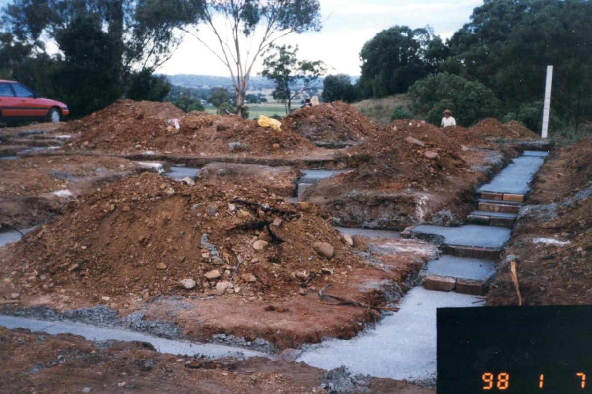 Photo of west slab footings