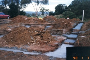 Photo of west slab footings