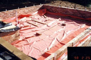 Photo of the west slab curing