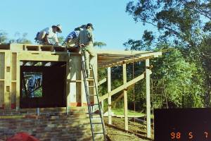 Laying the first floor