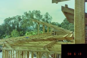 View of clearstory roof frames