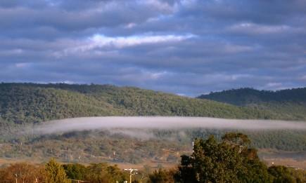 A low-level lenticular cloud