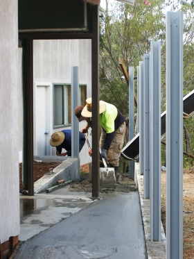 Photo of concrete laying