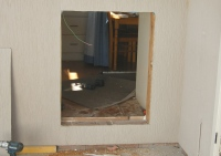 Wall hole for a louvre