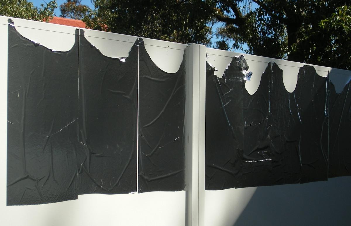 Aluminium foil damaged by birds