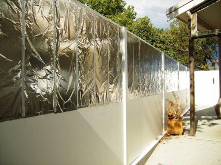 Aluminium foil mirrors to reflect sun