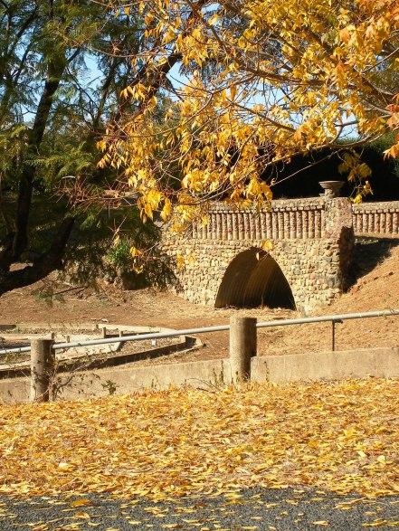 An ornamental stone bridge