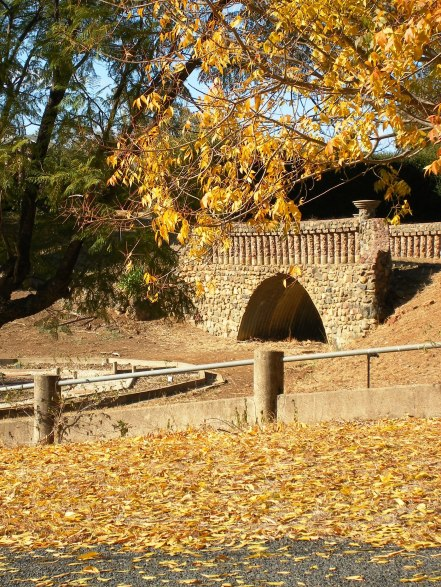 An ornamental stone bridge
