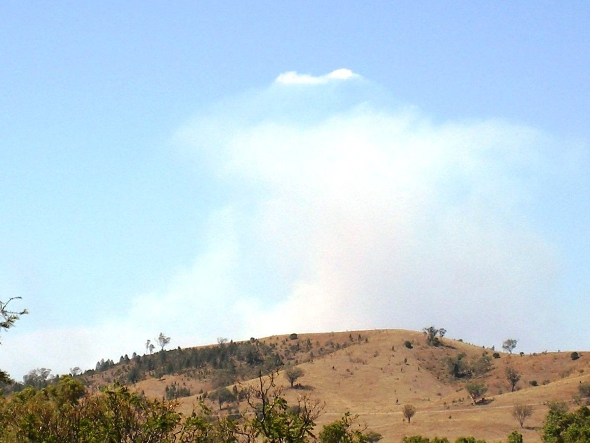 Photo of bushfire smoke at 40 km.