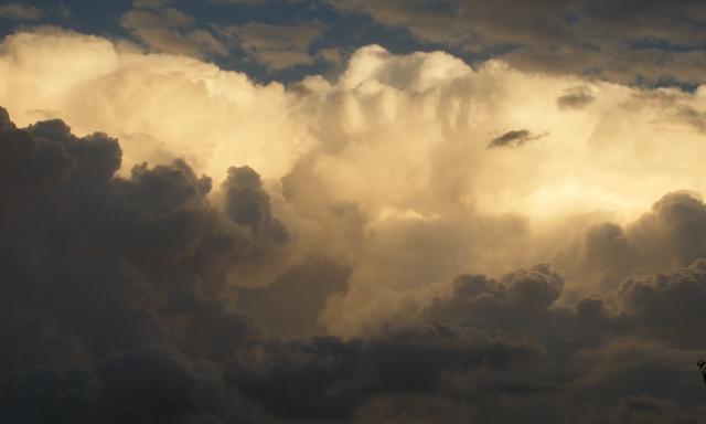 Cumulonimbus and towering cumulus