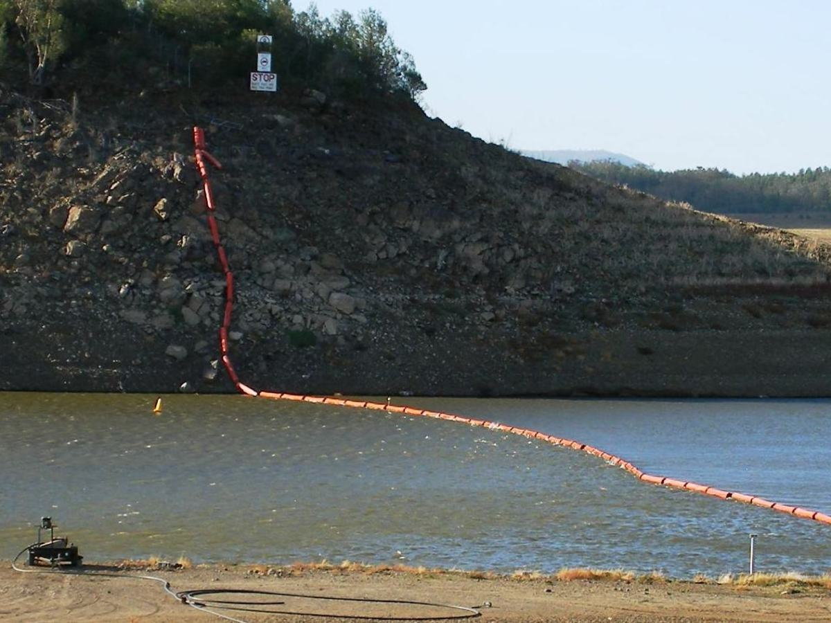 Photo of empty water reservoir